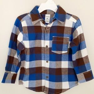 2T Flannel Button Down/Corduroy Pants Bundle